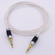 1m three.5mm Male to Male Four-Pin Audio Adapter AUX eight Cores 5N Pcocc Silver Plated cable