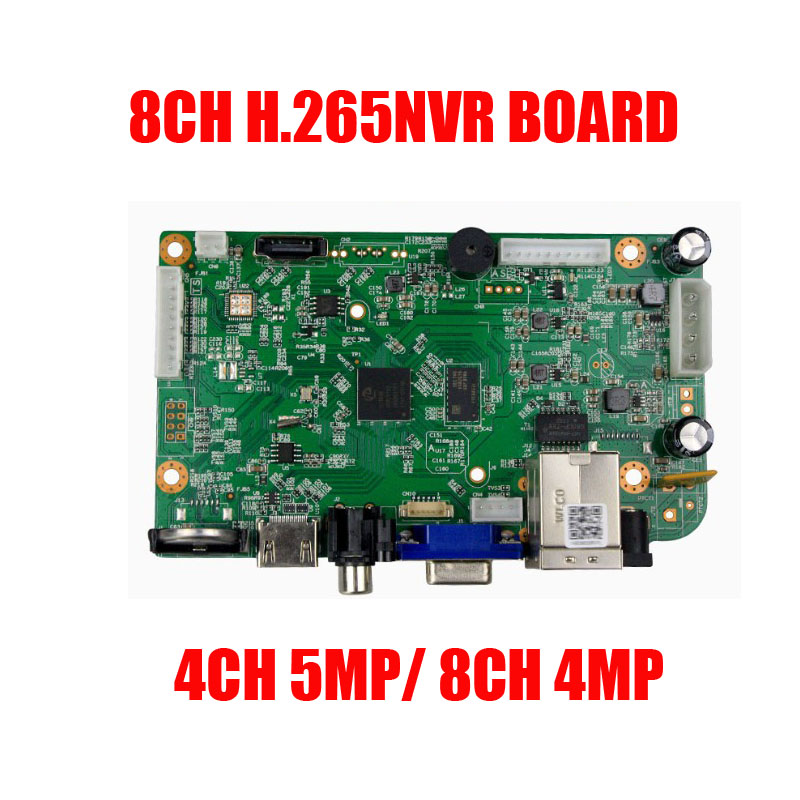 Free shipping H.265 16CH 8CH 4MP 4CH 5MP NVR Security CCTV DVR NVR Board Onvif Max 6TB 1* SATA interface
