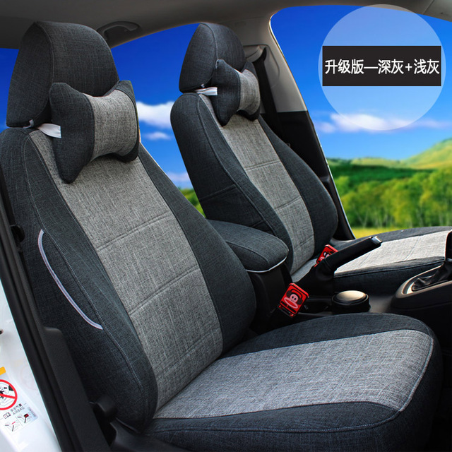 High Quality Fashion Linen Customized Car Seat Cover Set Six Seats For New Ford