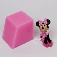 3D Mickey Mouse Shaped Silicone Fondant Mold Chocolate Candy Silicone Cake Mould Fondant Cake Decorating Tools