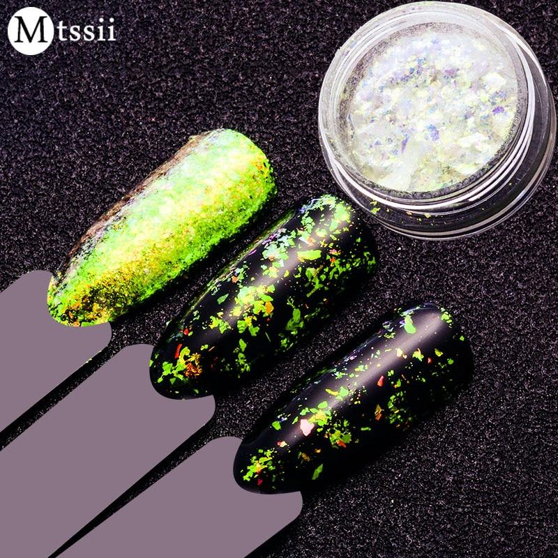 Mtssii Unicorn Neon Nail Glitter Mirror Iridescent Nail Sequins ...
