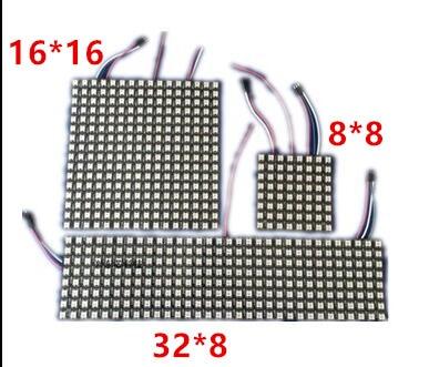 6 6 16 16 8 32 Pixel 36 pixels 256 Pixels WS2812B Digital Flexible font b