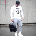 2017 Summer Bodybuilding and Fitness Mens Long sleeves T-shirt GymShark Shirt Men Muscle Tights Gasp T Shirt Plus Size S-XL