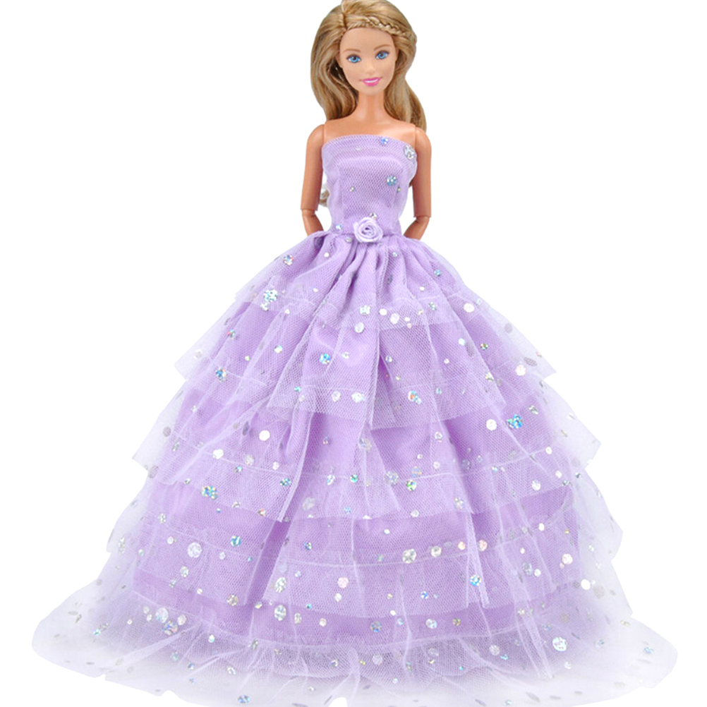 Diy Wedding Gowns: Princess Gown Dress Clothes Gown For Doll Doll Strapless
