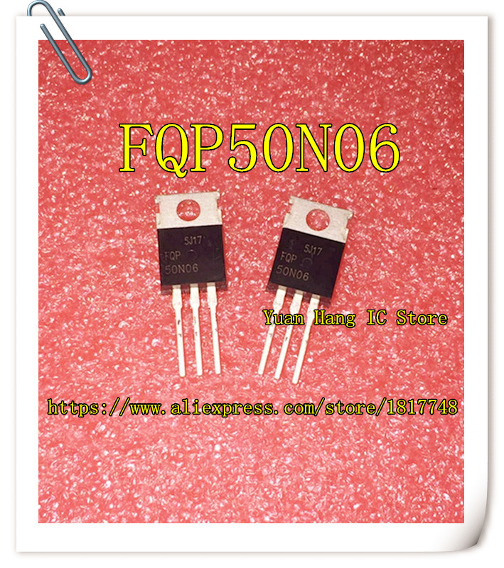 10PCS/LOT FQP50N06 FQP 50N06 50A 60V TO-220 NEW Field Effect Transistor