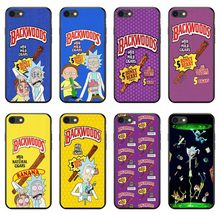 rick and morty backwoods soft Silicone phone case for iPhone 8 7 6 6S Plus X XS MAX XR 10 5S SE Samsung S7 S8 Edge Plus cover(China)