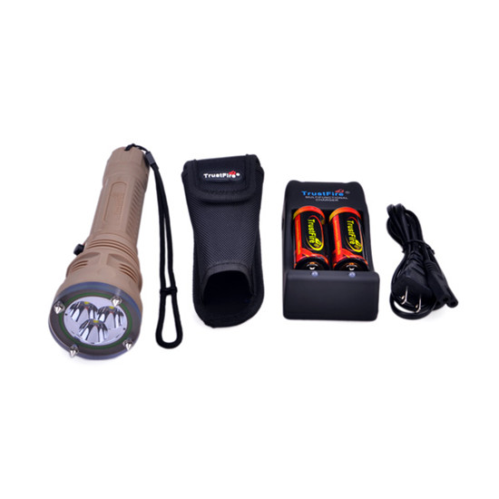 цена 1 Set TrustFire TR-DF002 Cree XM-L2 T6 1500LM 2-Mode Attack Head Diving Flashlight with Strap + Free 2 pcs 26650 Battery
