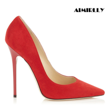 Aimirlly New Women High Heel Pumps Pointed Toe Faux Suede Lady Party Stiletto Shoes 4-15.5 Handmade Custom Shoes appella часы appella 4413 01 0 1 01 коллекция dress watches