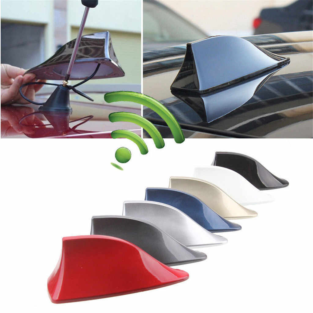 1PC Shark Fin Roof Antenna Aerial FM/AM Radio Signal Decoration Car Trim Universal 60g High-Quality ABS Material