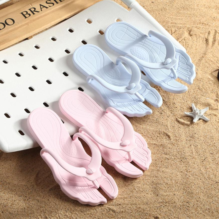 2018 Summer Women Slippers Solid Men Flip Flops Easy Carry Portable Slippers Beach Travel Slippers Men Women Shoes scarpe donna slipper