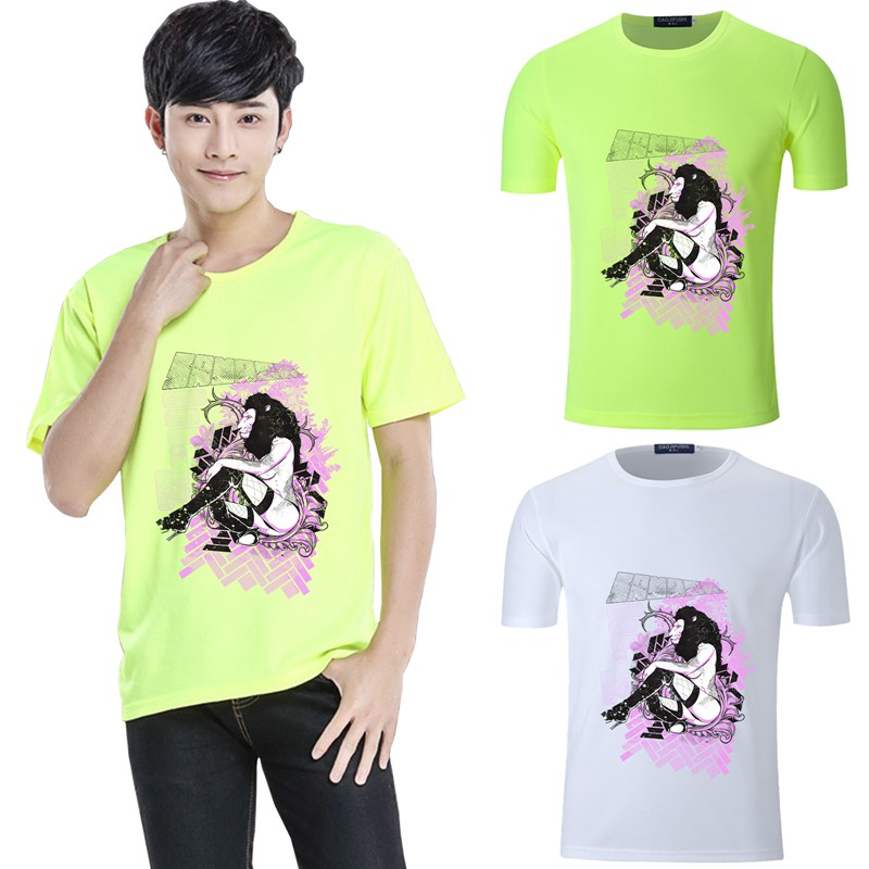 Summer Print Cartoon Round Collar Short Sleeve T Shirt Modal Quick drying Fitness Tee in T Shirts from Men 39 s Clothing