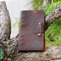 Cowhide A5 Notebook Cowhide Handmade Diary Business Retro Travel Page Leather Notebook Upscale Office Writing Book