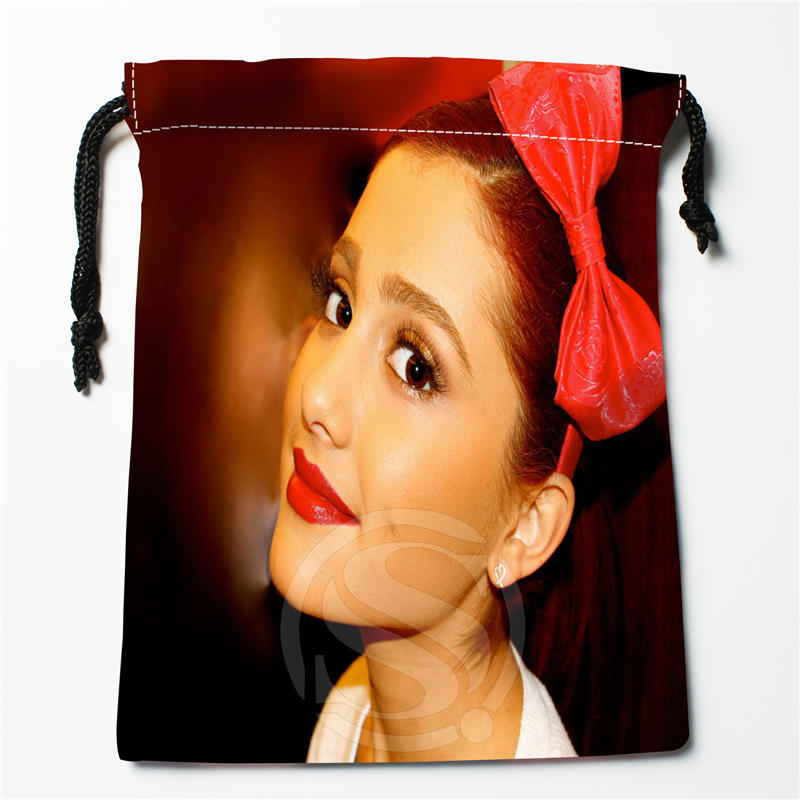 A&im53  New Ariana Grande Custom Logo Printed  Receive Bag  Bag Compression Type Drawstring Bags Size 18X22cm 712q#m53