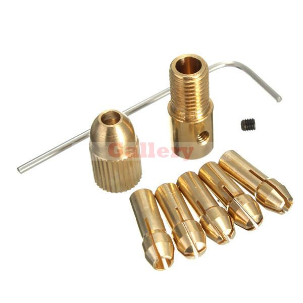 8 Pcs 0.5-3mm Small Electric Drill Bit Collet Micro Twist Chuck Set with Allen Wrench Makita Power Tools Accessories Power Tools high quality best price 5pcs set 0 5 3mm small electric drill bit collet micro twist drill chuck set