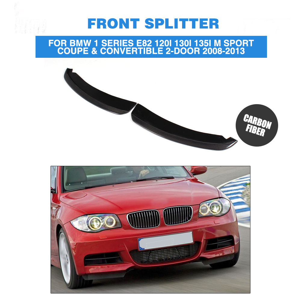 все цены на  Carbon Fiber Front Splitters Flaps Fit For BMW 1 Series E82 P Style Coupe & Convertible 2-Door Only 2007-2010  онлайн