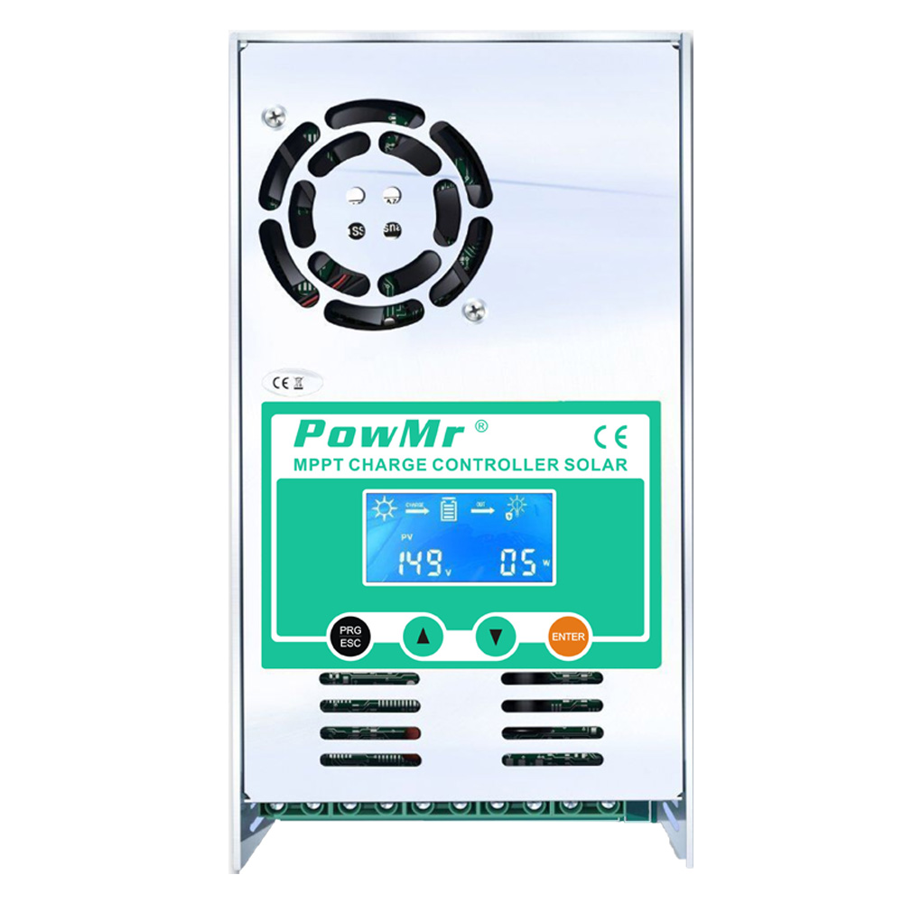 MPPT 60A Solar Charge and Discharge Controller 12V 24V 36V 48V Auto for Max 190VDC PV Input Vented Sealed Gel Nicd Li  PowMr