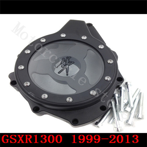 Fit for Suzuki GSXR1300 GSX-R 1300 Hayabusa 1999-2013 Motorcycle see through Engine Stator Cover Black Lefe side