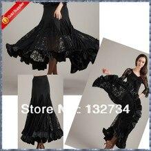High Quality!! Modern Waltz Tango Ballroom Dance Skirt, Smooth Ballroom Skirt,Standard Ballroom Skirt T-014