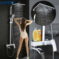 GAPPO Bathroom Shower Faucet Set Bronze Bathtub Faucet Shower Faucet Chrome Shower Tap Waterfall Rain Shower