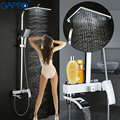 GAPPO bathroom shower faucet set white bathtub faucet mixer tap waterfall wall stainless shower head chrome bath Shower system