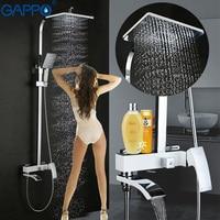 GAPPO Bathroom Shower Faucet Set Bronze Bathtub Faucet Shower Faucet Chrome Shower Tap Waterfall Rain Shower