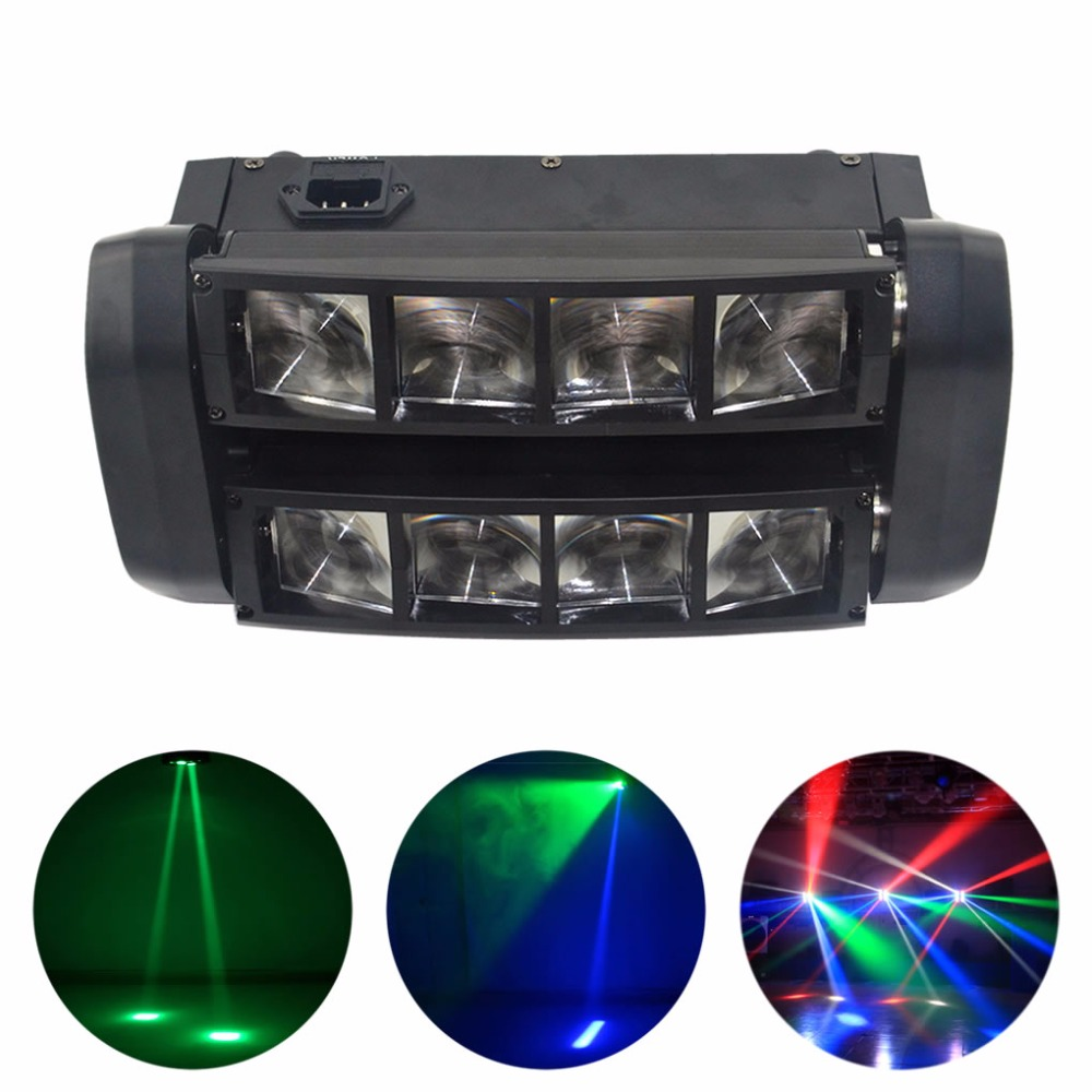 AUCD 30W 8 Heads LED RBGW Shake Lamp Stage Lighting Beam Digital Display DMX Show Dance Disco Home Party DJ Show Light XMT-117 dmx512 digital display 24ch dmx address controller dc5v 24v each ch max 3a 8 groups rgb controller