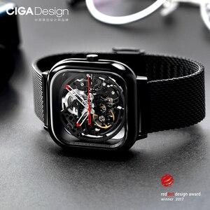 Image 5 - Youpin CIGA Reloj de pulsera mecánico ahuecado, Reddot Winner, de acero inoxidable, automático, de lujo, H27