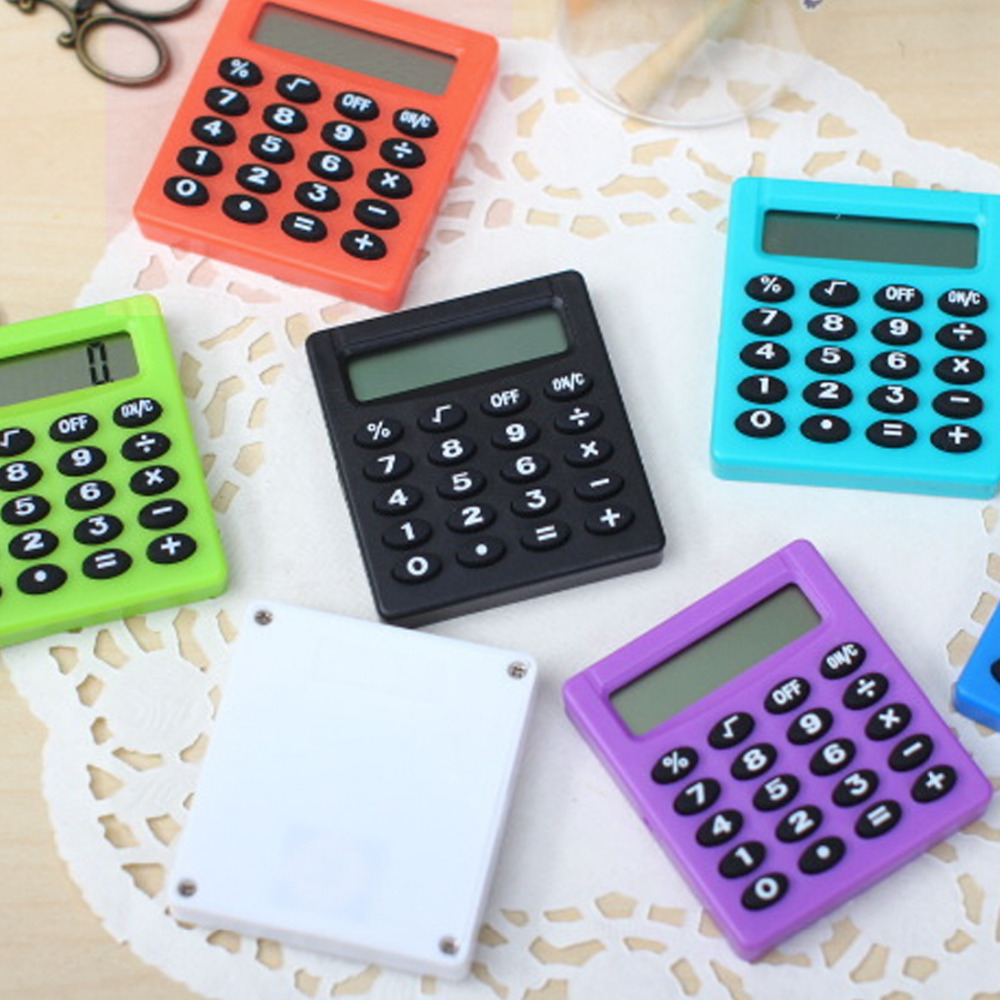 NOYOKERE Pocket Cartoon Mini Calculator Ha Ndheld Pocket Type Coin Batteries Calculator Carry Extras