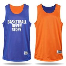 Men s Both Sides Basketball Jersey Uniforms Clothes Custom Reversible Basketball Game Training Suit Set Jerseys