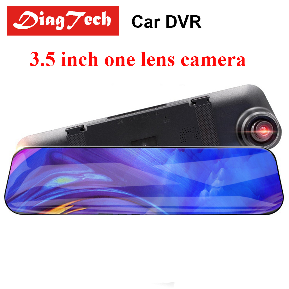 Car DVR Rearview-Mirror-Camera Dash-Camera Auto-Recorder Dual-Lens Full-Hd 1 with 1080P