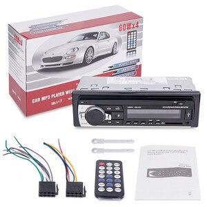 Image 5 - 1 PC de coche Bluetooth receptor estéreo de radio 1 din coche Mp3 USB reproductor de sintonizador de FM Multimedia Auto subwoofer electrónica para coche