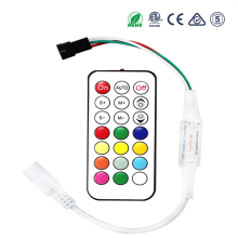 LED rgb controller 21key RF remote mini 5v 12v 24v milight dimmer WS2812b strip light stap 2835 5050 WS2811 WS2812B magic home