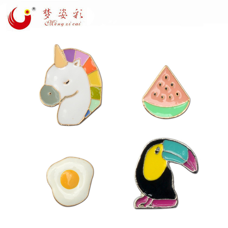 2019 New Arrival Cute Acrylic Brooch Pin Japan Harajuku Acrylic Broches Egg Broach Watermelon Fashion Animal Jewelry Accessory