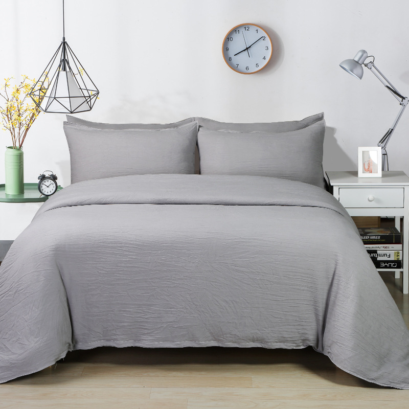 Grey Color Duvet Cover Sets Twin Queen King Size Bedding Sets For Single Double Bed 2-3pcs Bedclothes Bed Linens XF329-5