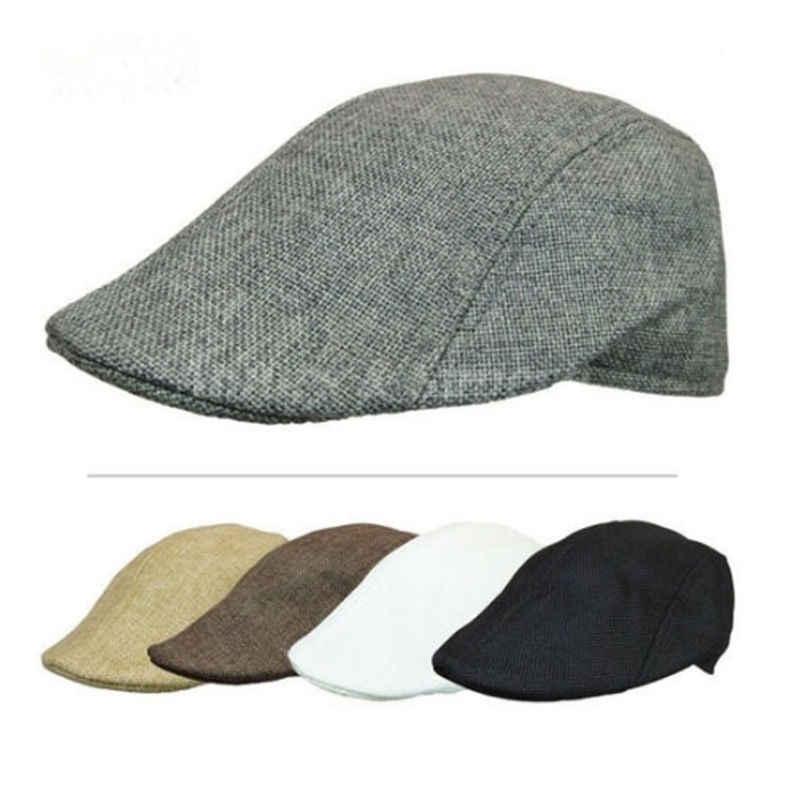 97a555eb New Casual Men Women Duckbill Ivy Cap Golf Driving Flat Cabbie Newsboy  Beret Hat