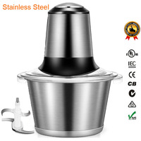 Electric Stainless Steel Family Meat Grinder Machine 2L