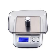 500 г x 0,01 г цифровые настольные весы ЖК-Электронные Ювелирные алмазы лабораторные весы 0,01 г точные лабораторные весы с подносом