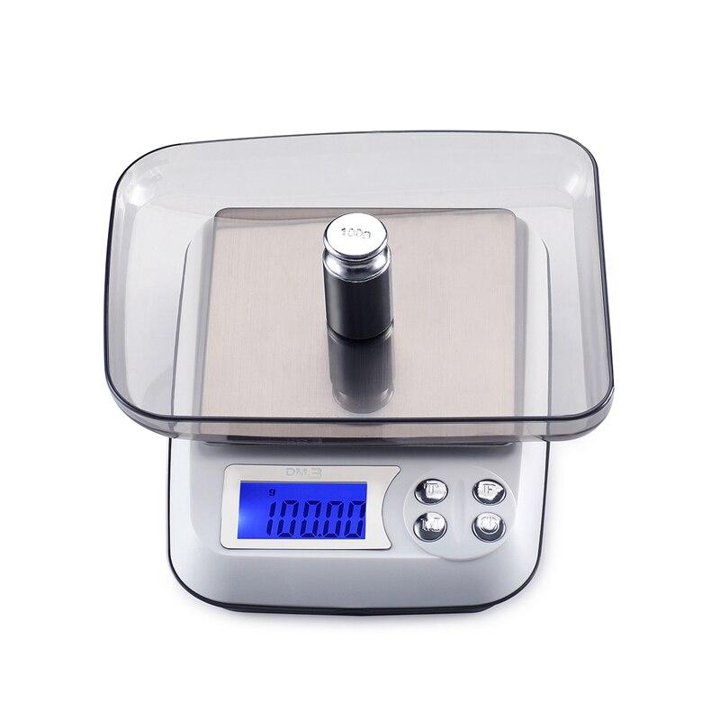 Balance de Table numérique pour bijoux et diamants, Balance électronique LCD, 500G x 0.01g, pour la pesée de laboratoire, 0.01G, avec plateau