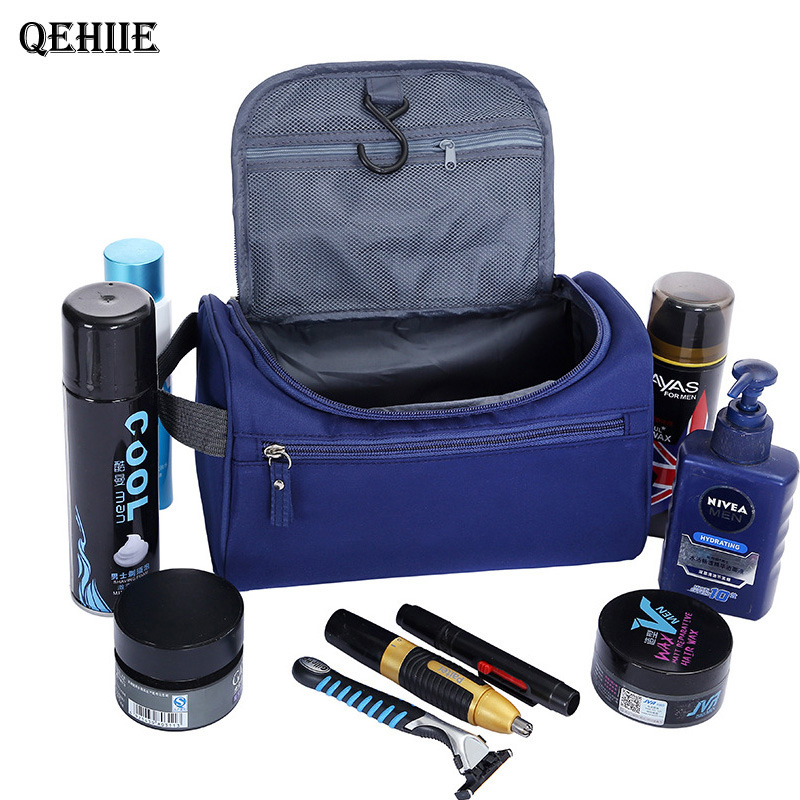 Men Cosmetics Cosmetic Bag Waterproof Oxford Toiletry Bag Travel Organizer High Capacit Mill Sand Beautician Case Bath Wash Bag