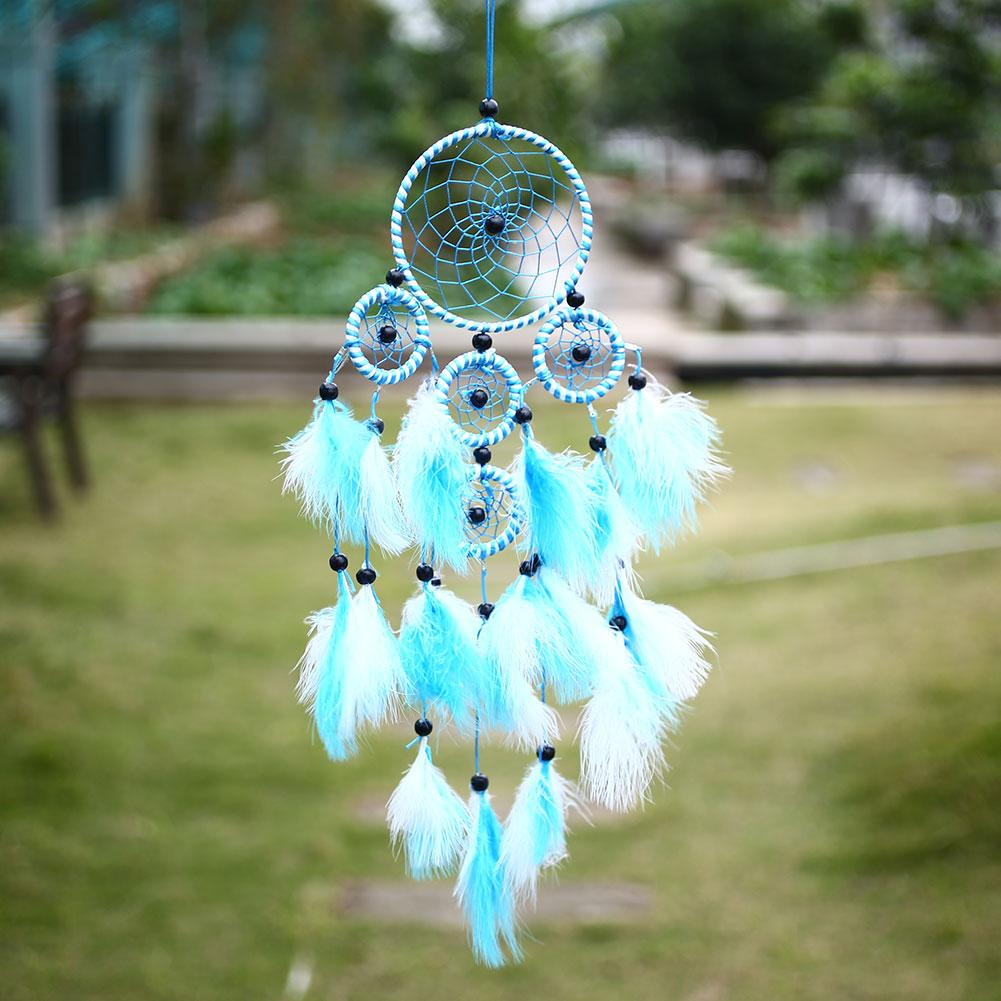 Outdoor feather colorful wall hanging decor ornament home for Outside house ornaments