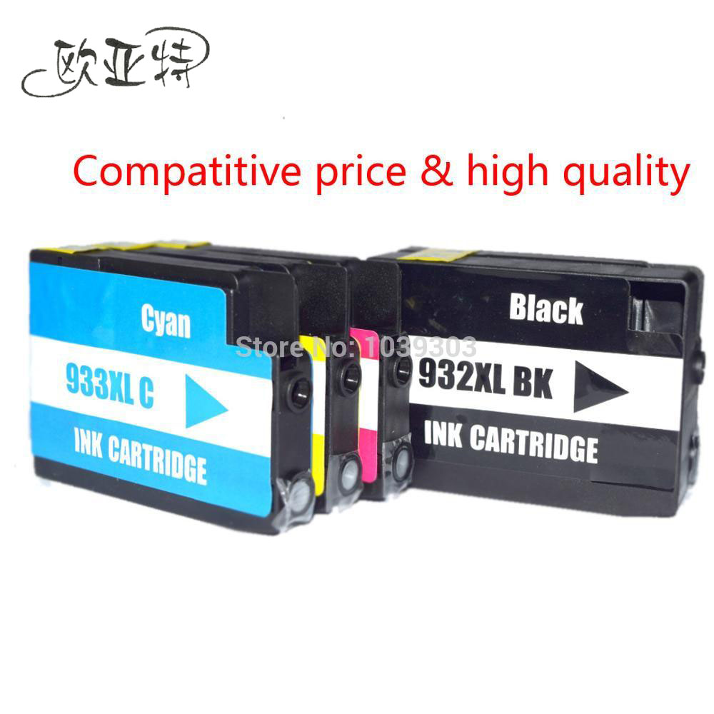 4 Color Compatible Ink Cartridge For HP932 HP 932 XL 933 Officejet Pro 6100 6600 6700 7110 7610 7612 Printer