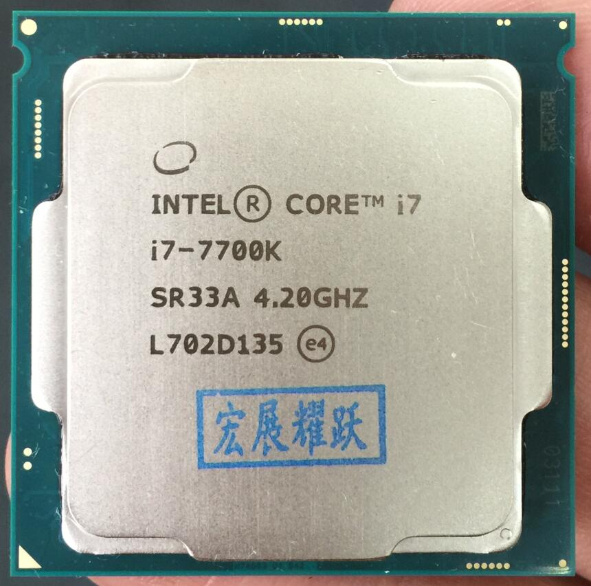 Intel Core 7 series PC Computer Desktop Processor I7 7700K I7-7700K CPU LGA 1151-land FC-LGA 14 nanometers Quad-Core cpu цена и фото