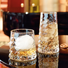 Creative gems shape cup Lead-free glass whiskey heat-resistant Large Capacity Beer Wine Glass Bar Hotel Glasswar
