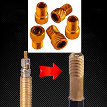5PC Aluminum Alloy Valve Adapter Bicycle Road Racing Bike Inner Tube Pump Bicycle Convert Presta to Schrader Copper Bike(China)