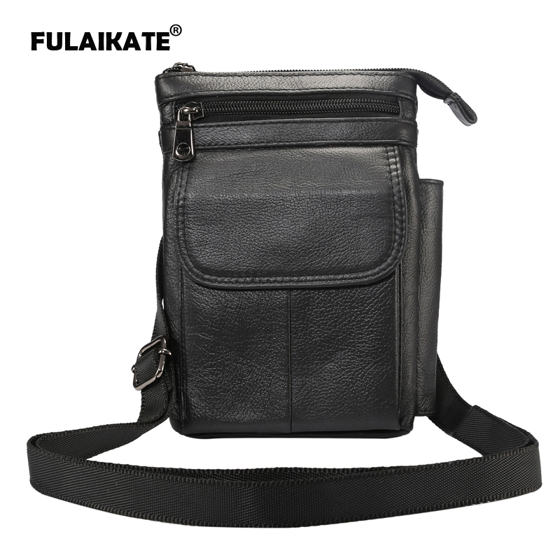 FULAIKATE 7 quot Genuine Leather Shoulder Strap Bag for iPhone7 Plus 6s Plus Case Waist Pouch for 7 inch Tablet PC Multifunction Bag in Phone Pouches from Cellphones amp Telecommunications