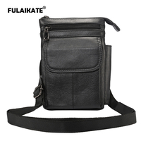 FULAIKATE 7 Genuine Leather Shoulder Strap Bag for iPhone7 Plus 6s Plus Case Waist Pouch for 7 inch Tablet PC Multifunction Bag
