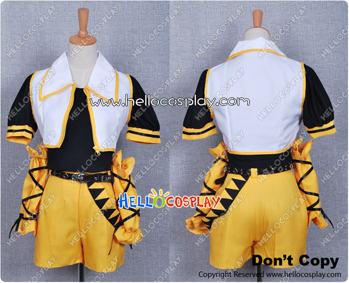 Japanese Anime Outfit Vocaloid 2 Cosplay Rin Kagamine Costume From Secret Police 2 Song H008 image