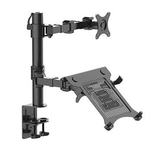 "Image 1 - Loctek D1F2 Full Motion Desktop 10"" 16"" Laptop Mount+10"" 27"" Monitor Holder Mount LCD Dual Arm Desk Stand Max Support 10kg Each"