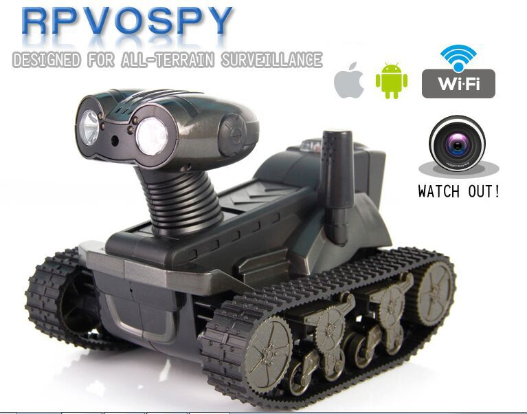 Free Shipping Wifi Real time Transport 4CH RC Tank Car panzer controlled by iPhone ipad and
