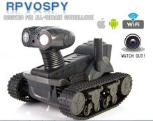 Бесплатная доставка Wi-Fi в режиме реального времени транспортный 4ch Р/У танки автомобиля танковая контролируется Iphone Ipad и Android с видео Камера VS T200